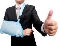 broken arm thumbs up