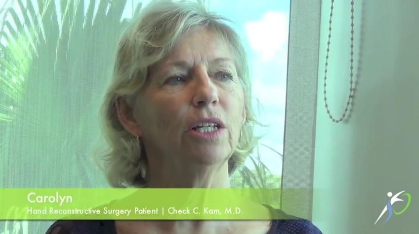 Hand Reconstructive Surgery Testimonial
