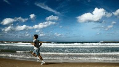 beach runner